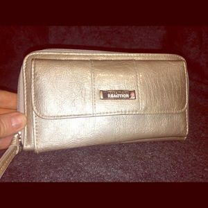 Kenneth Cole Reaction's Silver Fake Snake Wallet